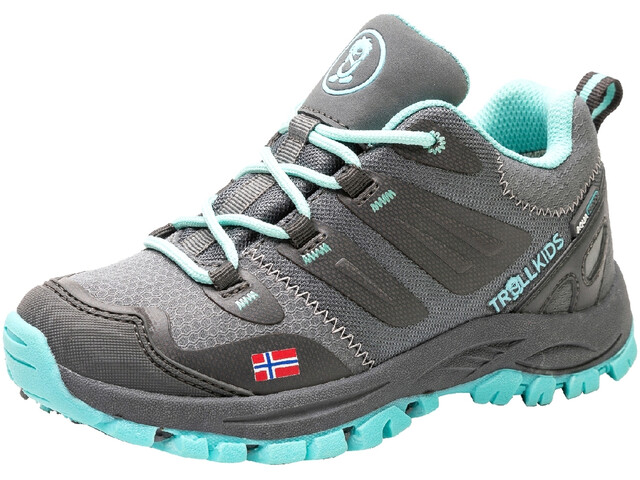 TROLLKIDS Rondane Hiker Low Shoes Kids, anthracite/mint